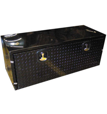 Steel Black Tool Boxes with Diamond Plate Tread Door