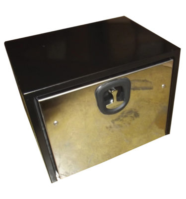 Black Steel Tool Boxes with Polished Stainless Steel Door